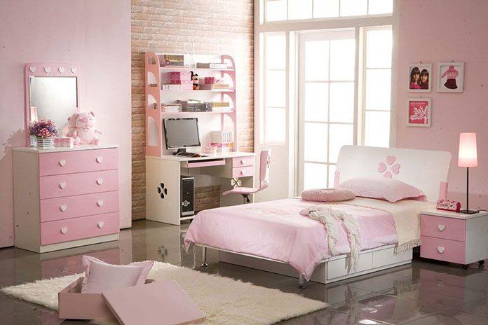 Kolor ścian – różowy puder