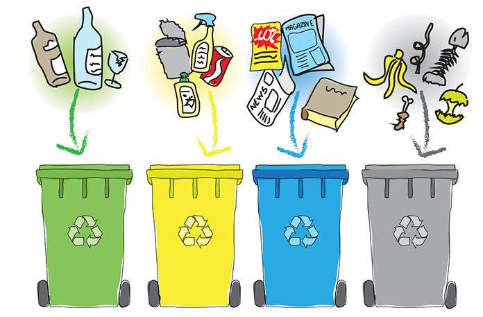 Najlepsze sposoby na składowanie odpadów w domu