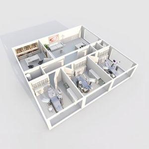 Projekt gabinetu stomatologicznego - styl i funkcjonalność w jednym